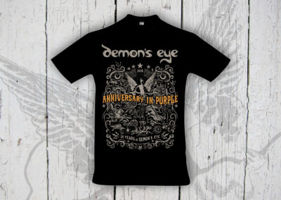 "Moni Kircher - PRINT & WEBDESIGN - T-Shirt-Design für die Band ""Demon's Eye"""