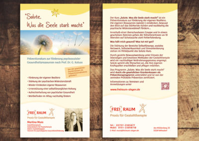 Moni Kircher - PRINT & WEBDESIGN - Flyer