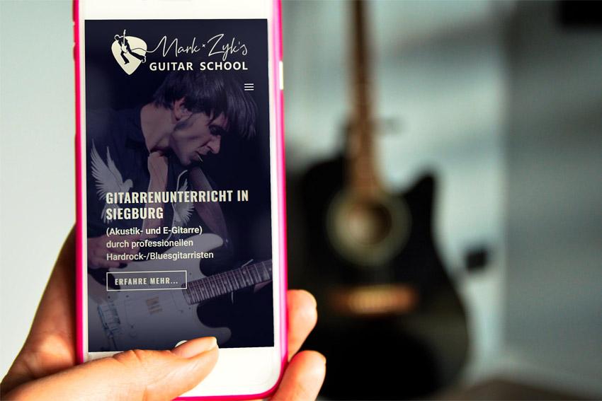 Webseite für den Gitarristen Mark Zyk