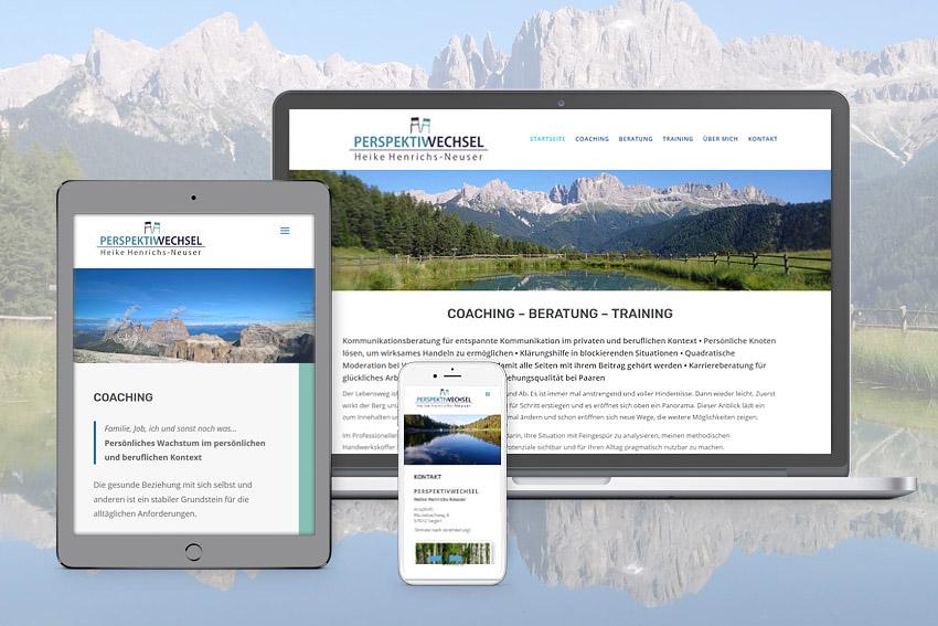 Responsive Webseite für Perspektivwechsel in Siegen