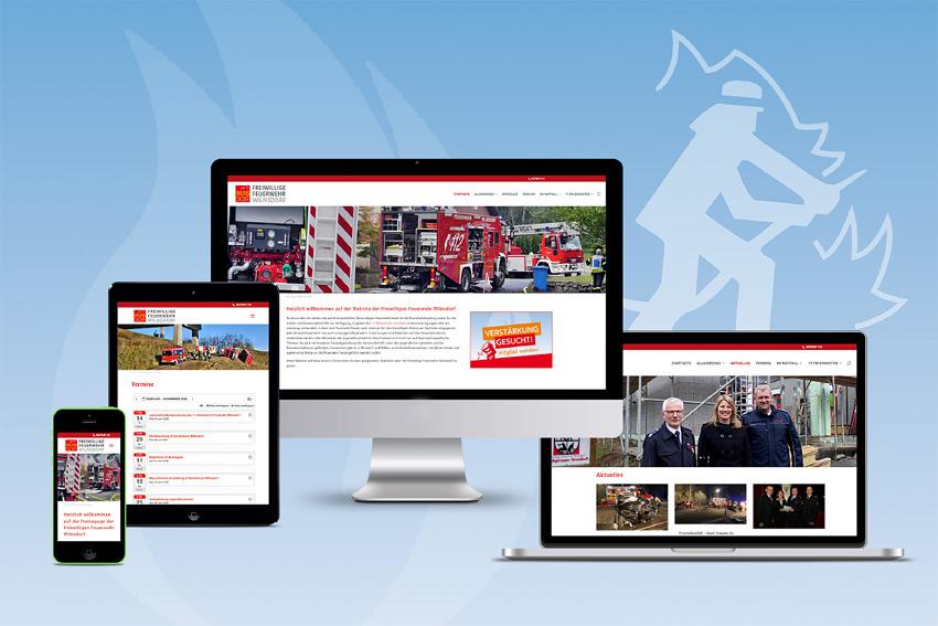 Responsive Webseite für die Feuerwehr in Wilnsdorf