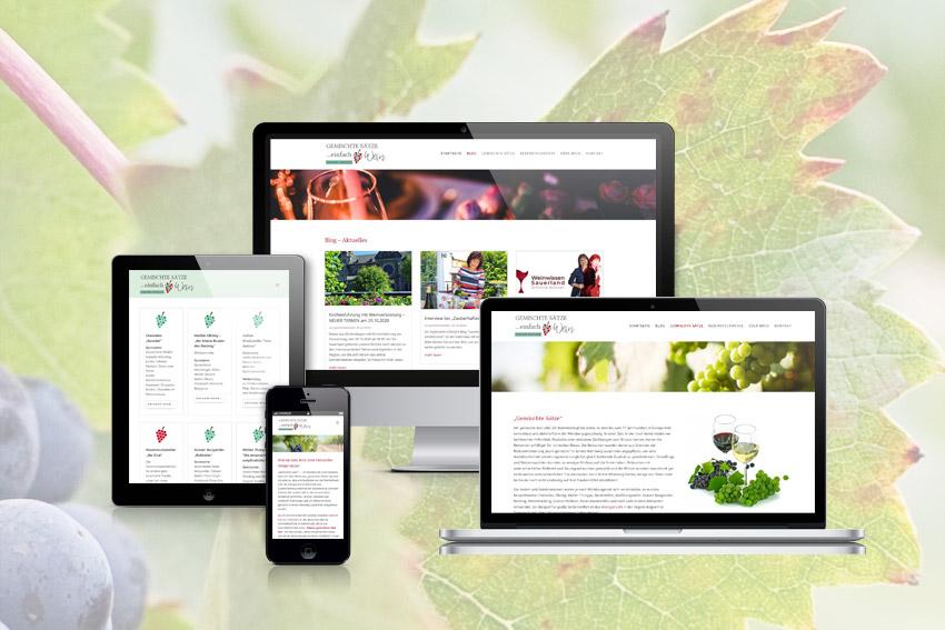 Responsive Webseite für die Sommeliére Simone Kohzer