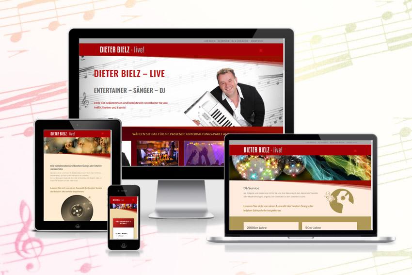 Responsive Webseite für den Alleinunterhalter Dieter Bielz