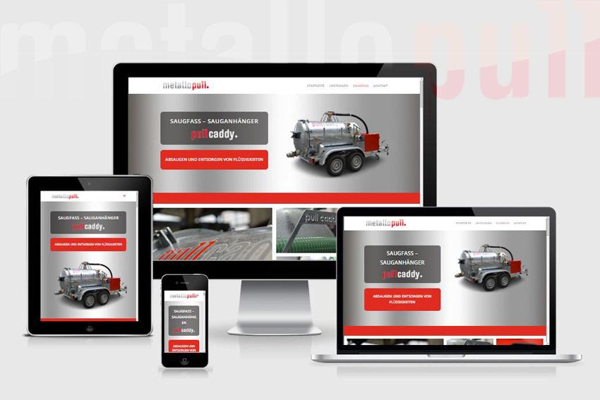"""Responsive Webseite für die Stahlexperten """"MetalloPull"""""""