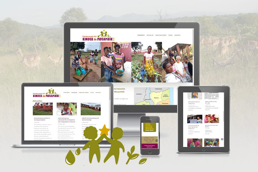 Responsive Webseite für den Mosambik Verein in Lennestadt