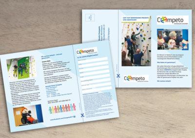 Falz-Flyer für den Verein Competo