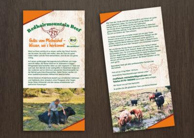 Flyer für den Michelshof - Bio Beef